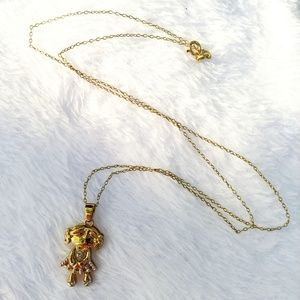 Jewelry - Gold-plate Sterling Silver Girl Pendant Necklace